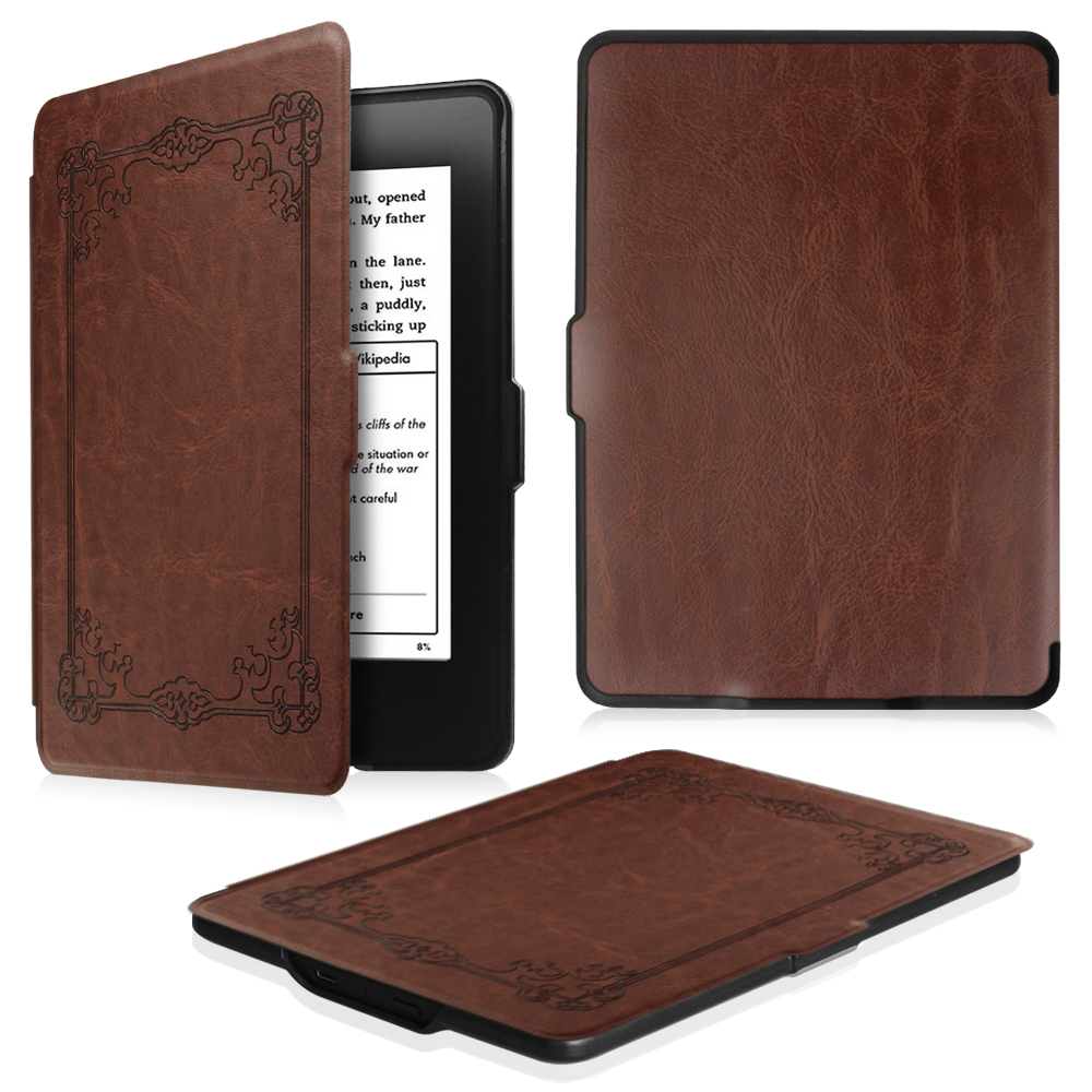 Fintie SlimShell Case for Amazon Kindle Paperwhite Gen Prior to 2018, Not Fit All-new Paperwhite 10th Gen,Vintage Bronze