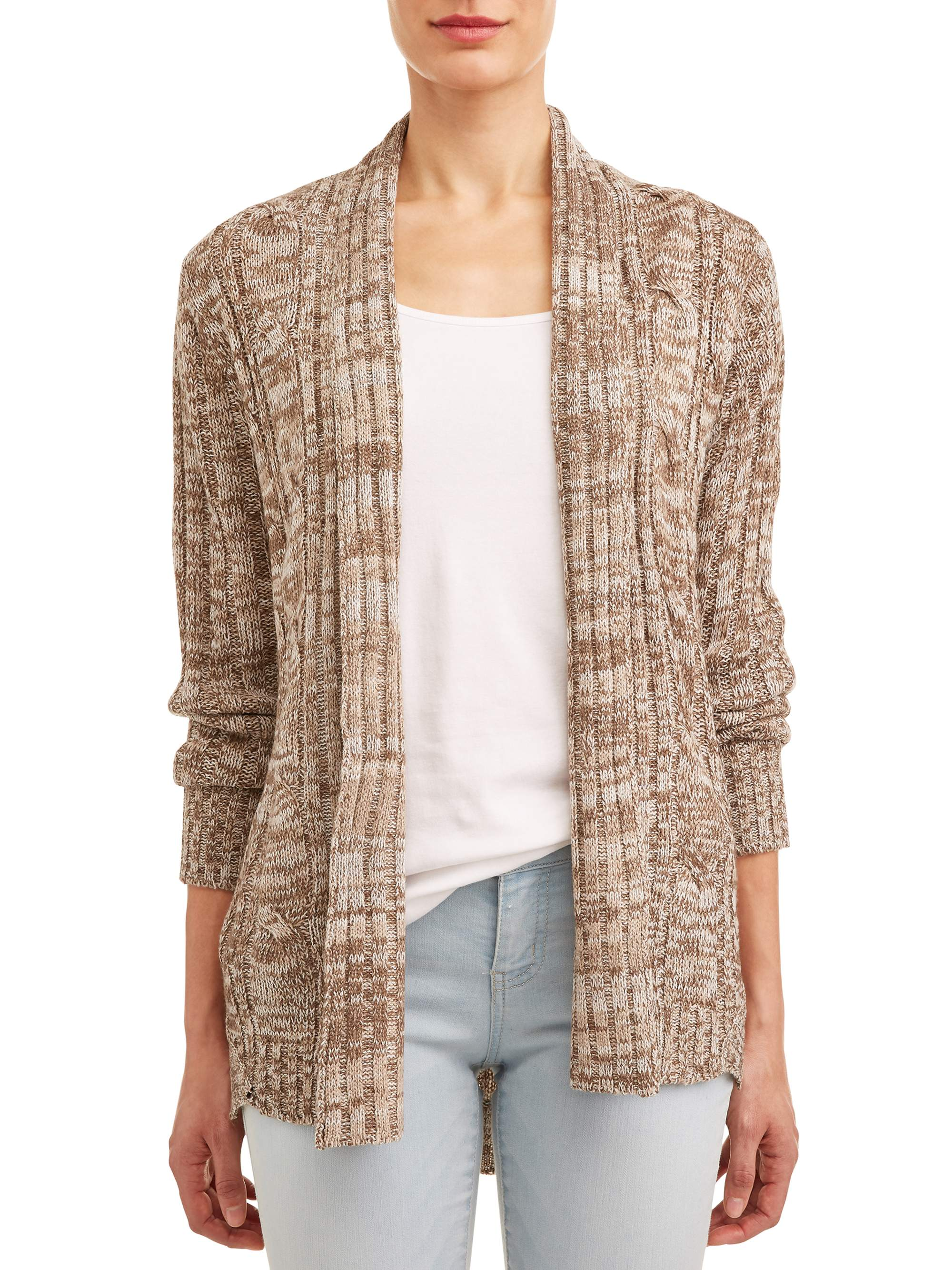Women's Marled Open Front Cardigan