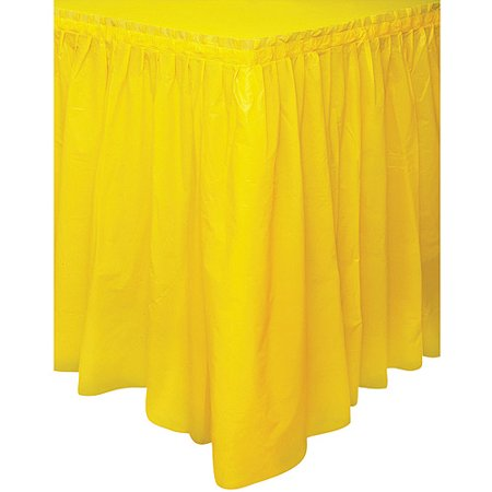 Plastic Table Skirt, 14 ft, Yellow, 1ct (Party City Table Skirts)