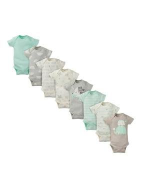Gerber Baby Boy or Baby Girl Gender Neutral Onesies Short Sleeve Bodysuits, 8-Pack.