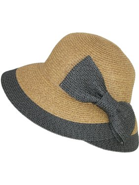 50c87caed0f Product Image Women s Overlapping Split Brim Bucket Hat with Bow at Back.  Product Variants Selector. Natural Black Natural Brown. Jeanne Simmons
