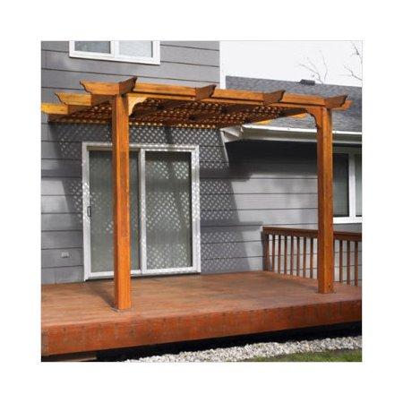 The outdoor greatroom company redwood patio pergola for Great outdoor room company