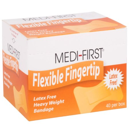 Medique Products 61578 Woven Extra Heavy Weight Latex Free Fingertip Bandages, 40 Per - Latex Product