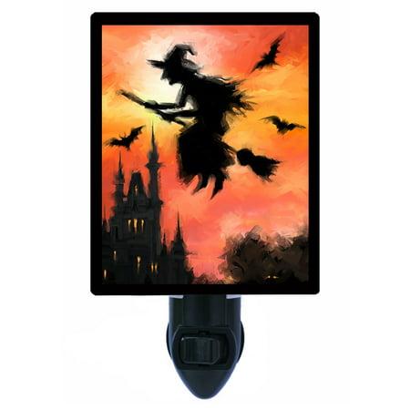 Night Light - Photo Light - Halloween Witch - Broomstick - Halloween Witch Makeup Photos