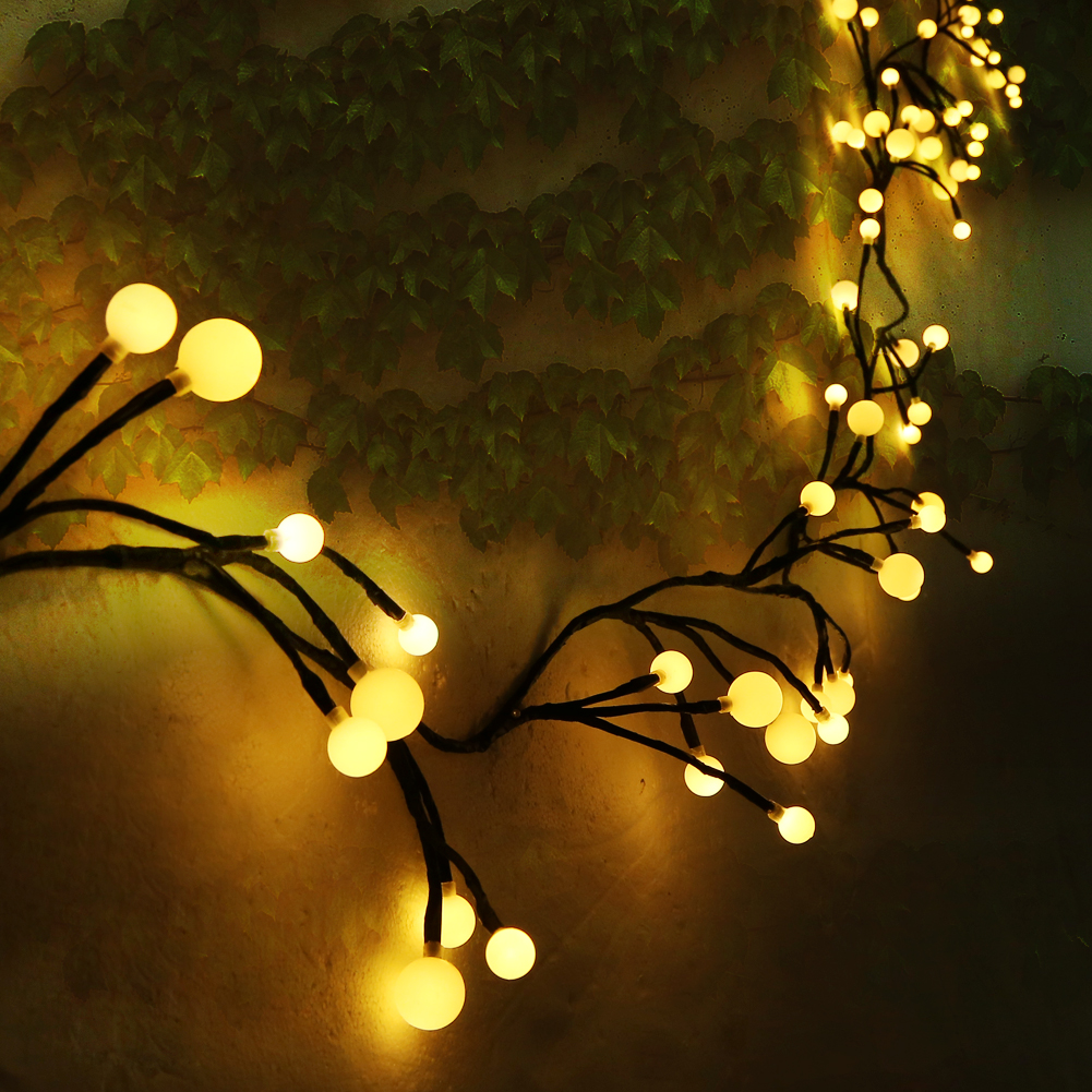 String Fairy Light, Estink 8ft 72 LED Globe String Branch Fairy Light with 8 Modes for Christmas Party Xmas Tree, Home Yard Wedding Decoration(Warm White)