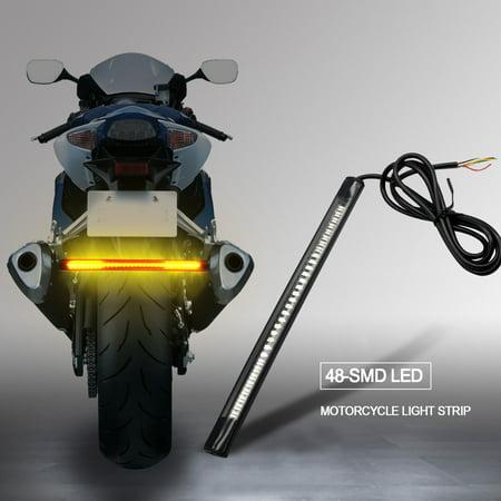 32 LED Waterproof Motorcycle LED Color Rear Taillights LED Light Bar Turn Signal Rear Light Rear Turn Signal Bar