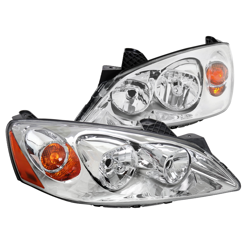 2005-2010 Pontiac G6 Replacement Chrome Clear Headlights Head Lamps Left+Right