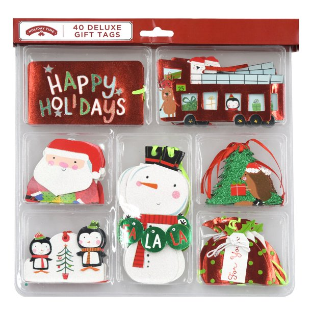 holiday time deluxe christmas gift tags 40 count walmart com walmart com holiday time deluxe christmas gift tags 40 count
