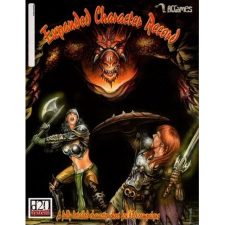 Expanded Character Record (d20) Great Condition
