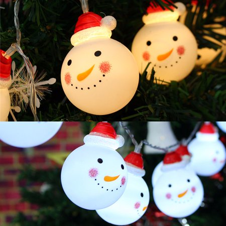 Snowman Designed LED Strings Fairy Lights Lights for Christmas Decoration Christmas Tree ornaments Snowball party Innendekoration home decor ()