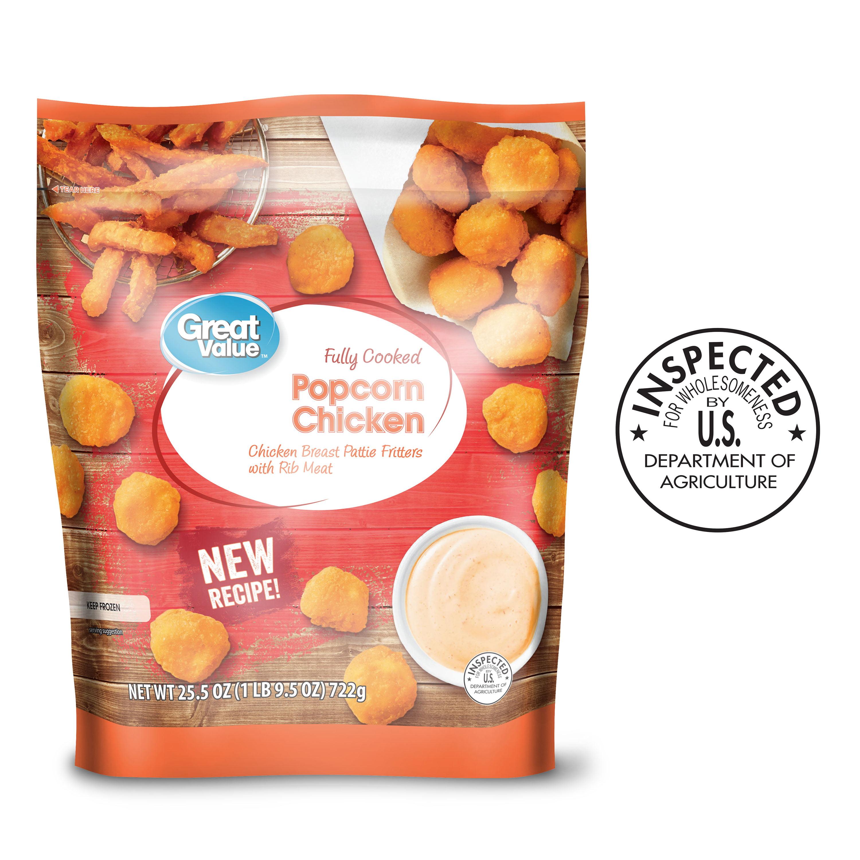 Great Value Breaded Popcorn Chicken, 25