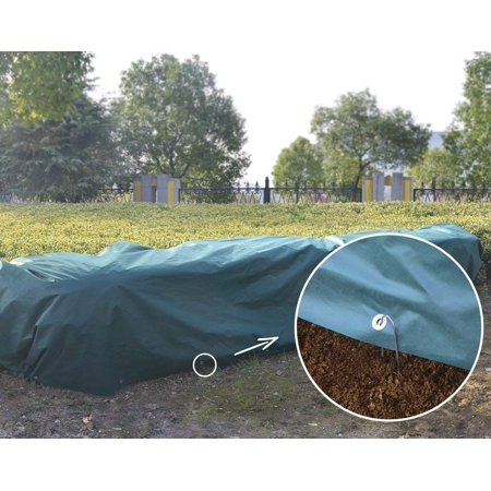 Agfabric Floating Row Cover & Plant Blanket Kit with Pins,1.5oz Fabric for Frost Protection,Gardening, Harsh Weather Resistance& Seed Germination 7x20ft