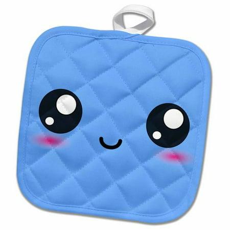 3dRose Cute Smiling Face Sweet Happy Cartoon Potholder