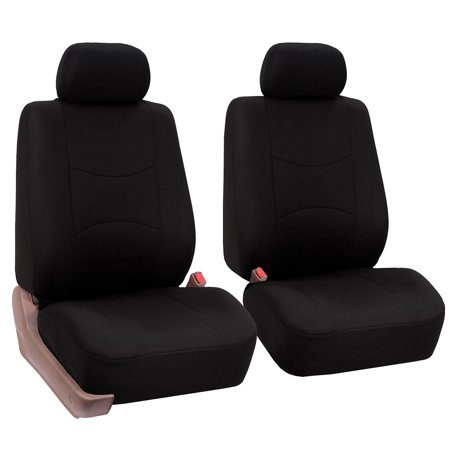 FH Group Universal Flat Cloth Pair Bucket Seat Cover, 2 Pack, (Best Bucket Seat Covers)
