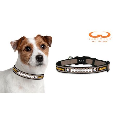 Pittsburgh Steelers Reflective Extra Small XS NFL Football Safety Pet Dog Collar