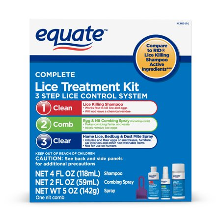 Equate Complete Lice Treatment Kit, 3 Step System