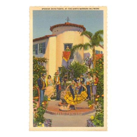 Fiesta Days, Santa Barbara, California Print Wall Art
