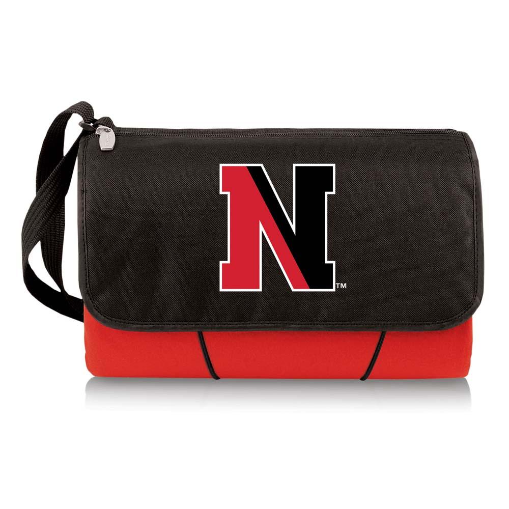 NCAA Northeastern Huskies Outdoor Picnic Blanket Tote Red