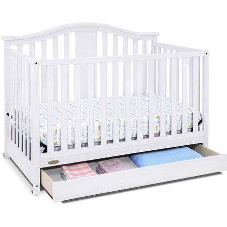 Graco Solano 4 in 1 Convertible Crib with Drawer White