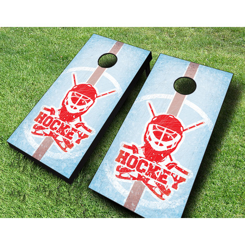 AJJ Cornhole Ice Hockey Cornhole Set by