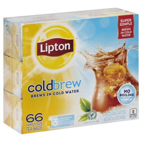 how to make lipton cold brew tea