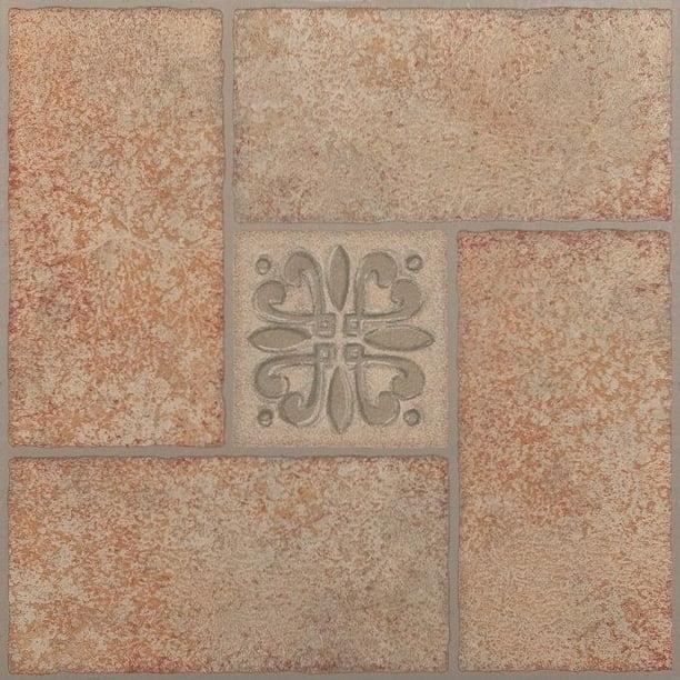 Ft Piece Achim Imports FTVMA42045 Tivoli Beige Terracotta 12 x 12 Self Adhesive Vinyl Floor Tile-45 Tiles//45 Sq 45