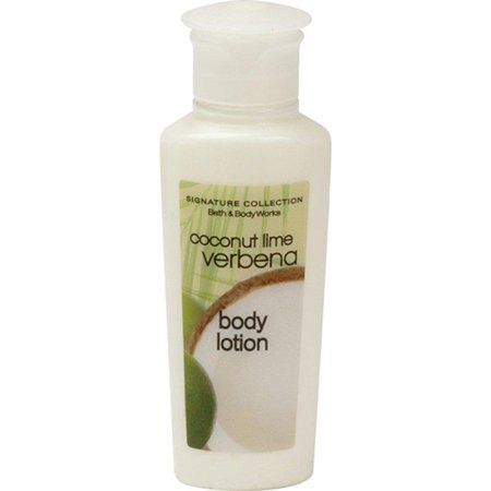 bath & body works coconut lime verbena body lotion. lot of 30 each 0.75oz bottles. total of 22.5oz.
