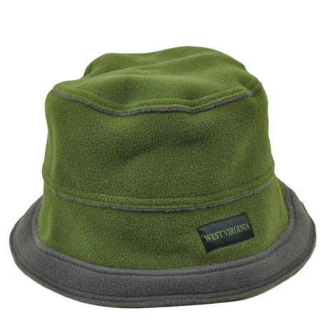 f37f080d7a4 West Virginia Mountain State USA Fleece Bucket Hat Olive Green Gray One  Size - Walmart.com