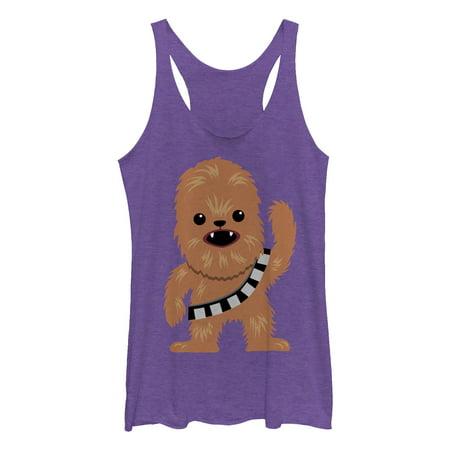 Chewbacca Tank Top (Star Wars Women's Cute Chewbacca Cartoon Racerback Tank)
