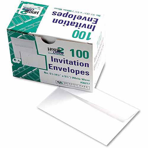 Quality Park Greeting Card/Invitation Envelope, Contemporary, #5 1/2, White, 100/Box