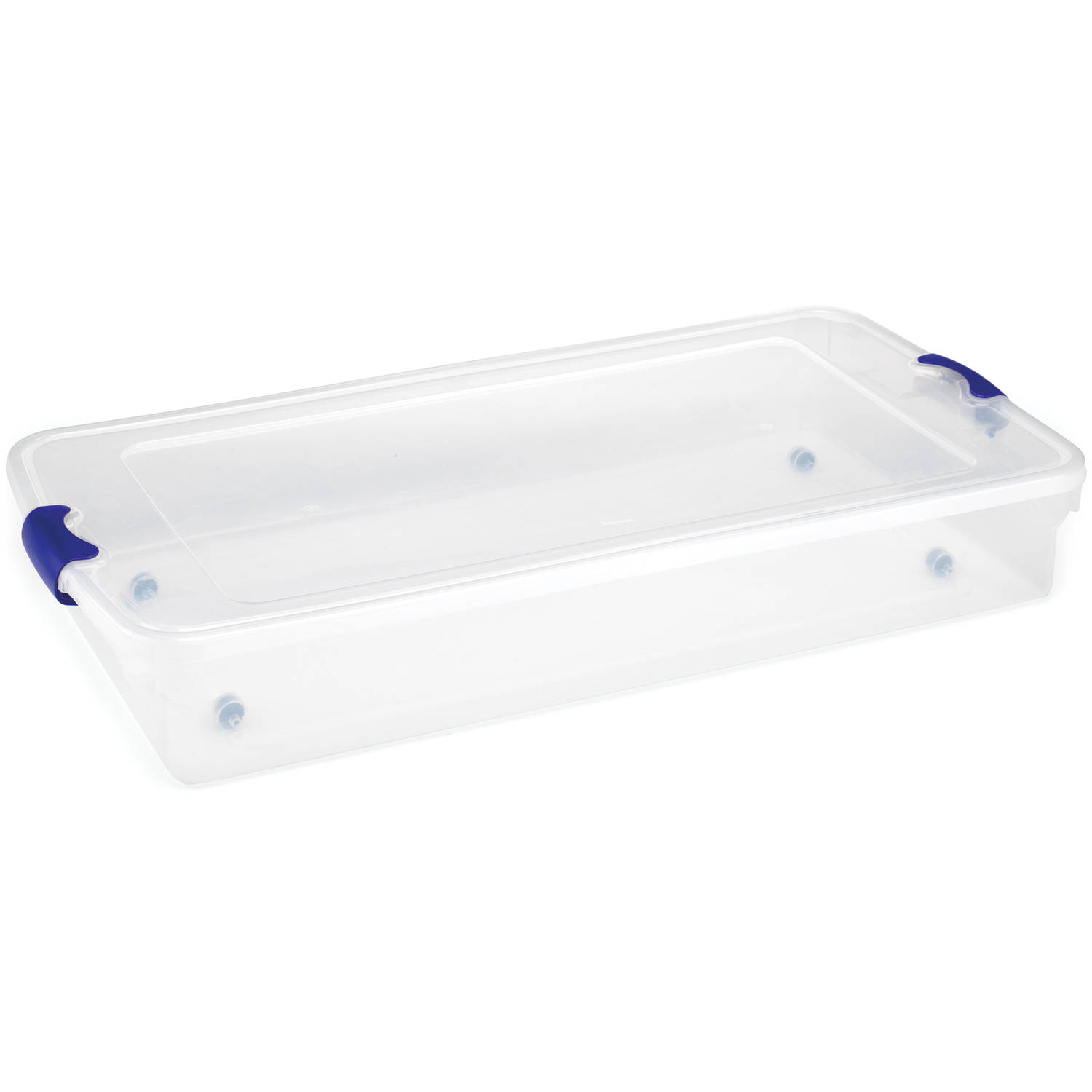 Homz 60 Quart Twin/King Under Bed Clear Latching Storage set of 2 - Walmart.com  sc 1 st  Walmart & Homz 60 Quart Twin/King Under Bed Clear Latching Storage set of 2 ...