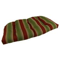 Lava Hampton Bay Stripe Sunbrella Outdoor U Settee Cushion