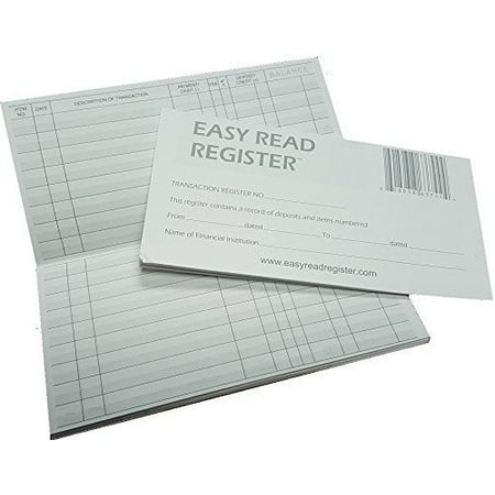Account Register - 5 Transaction Checkbook Registers 2018-2019-2020 Calendars Gray and White Lined 32 Page