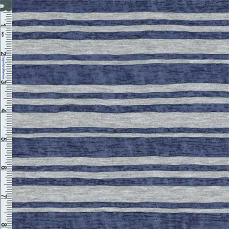Blue Striped Fabric - Royal Blue Textured Stripe Jersey Knit, Fabric Sold By the Yard