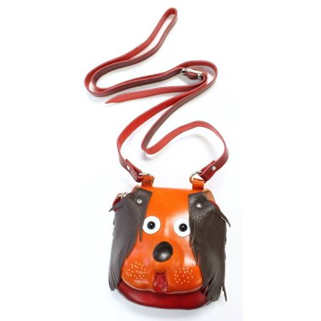 Handmade Genuine Leather Puppy Purse with Adjustable Shoulder (Handmade Leather Bags)