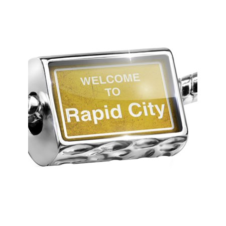 Bead Yellow Road Sign Welcome To Rapid City Charm Fits All European (Rapid City Women)