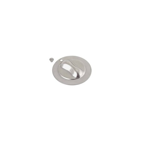 MACs Auto Parts Premier  Products 28-24595 Model A Ford Crank Hole Cover - Stainless Steel