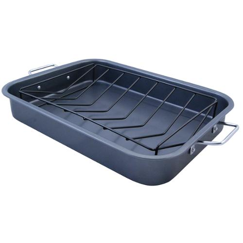 KitchenWorthy Roasting Pan with V-Rack (Case of 4) by Overstock