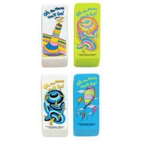 Dr Seuss Beveled Erasers-Oh The Places You'll Go - Set of 4, Characters From 4 Dr Seuss Books By Dr. Seuss Ship from - Dr Seuss Book Characters