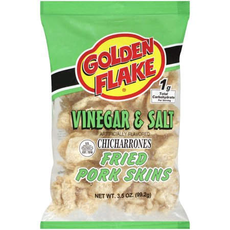 Golden Flake Vinegar & Salt Fried Pork Skins, 3.5 oz - Walmart.com