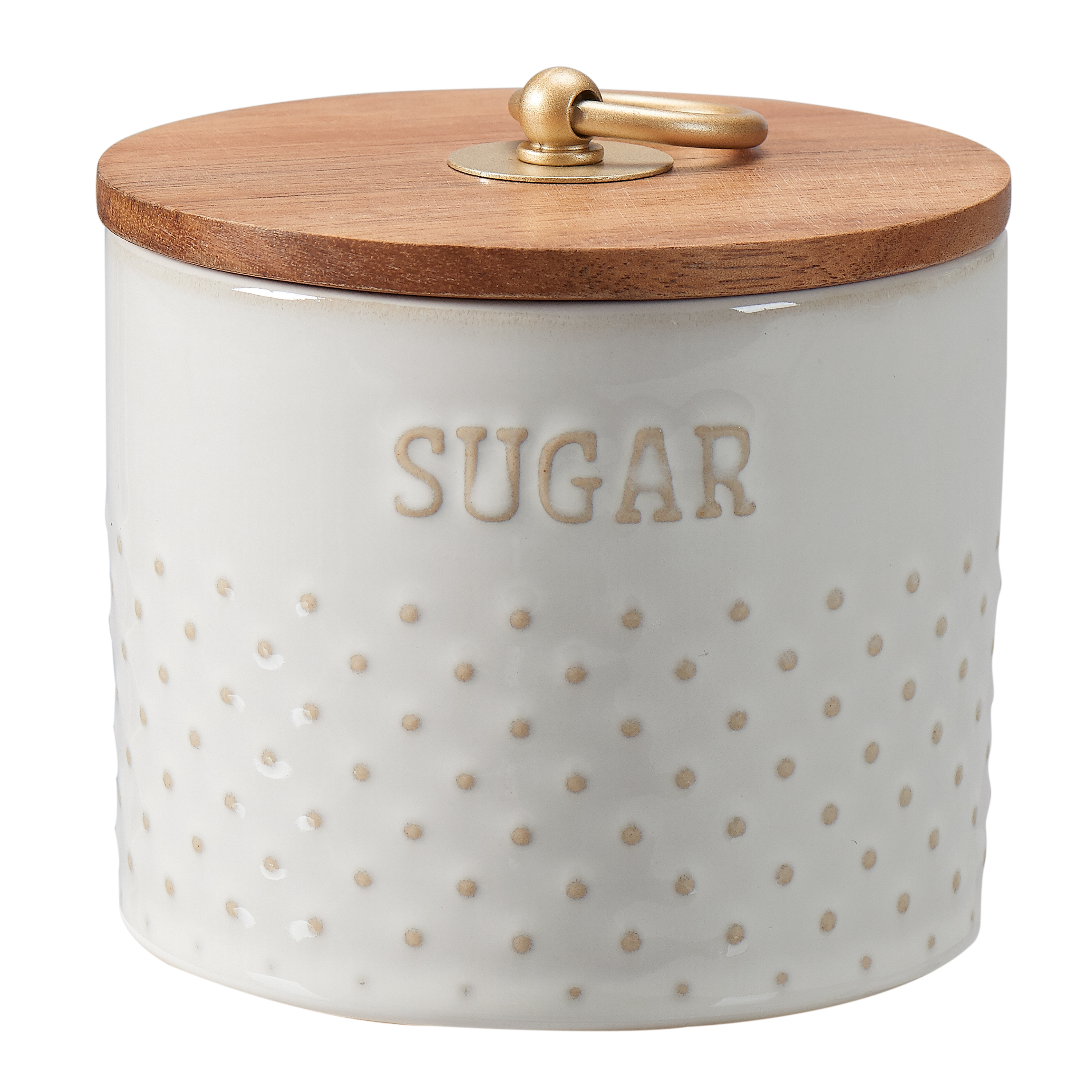 Better Homes & Gardens Modern Farmhouse 11 Oz. Mix & Match Dotted Sugar Canister