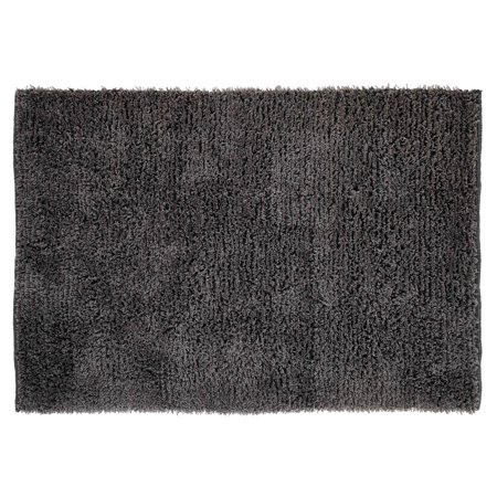 Chesapeake Microfiber Grey Shag Area Rug (7' 3''x 9'