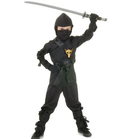 Black Ninja Dragon Fighter Boys Fancy Dress Halloween Party - Boys Halloween Fancy Dress