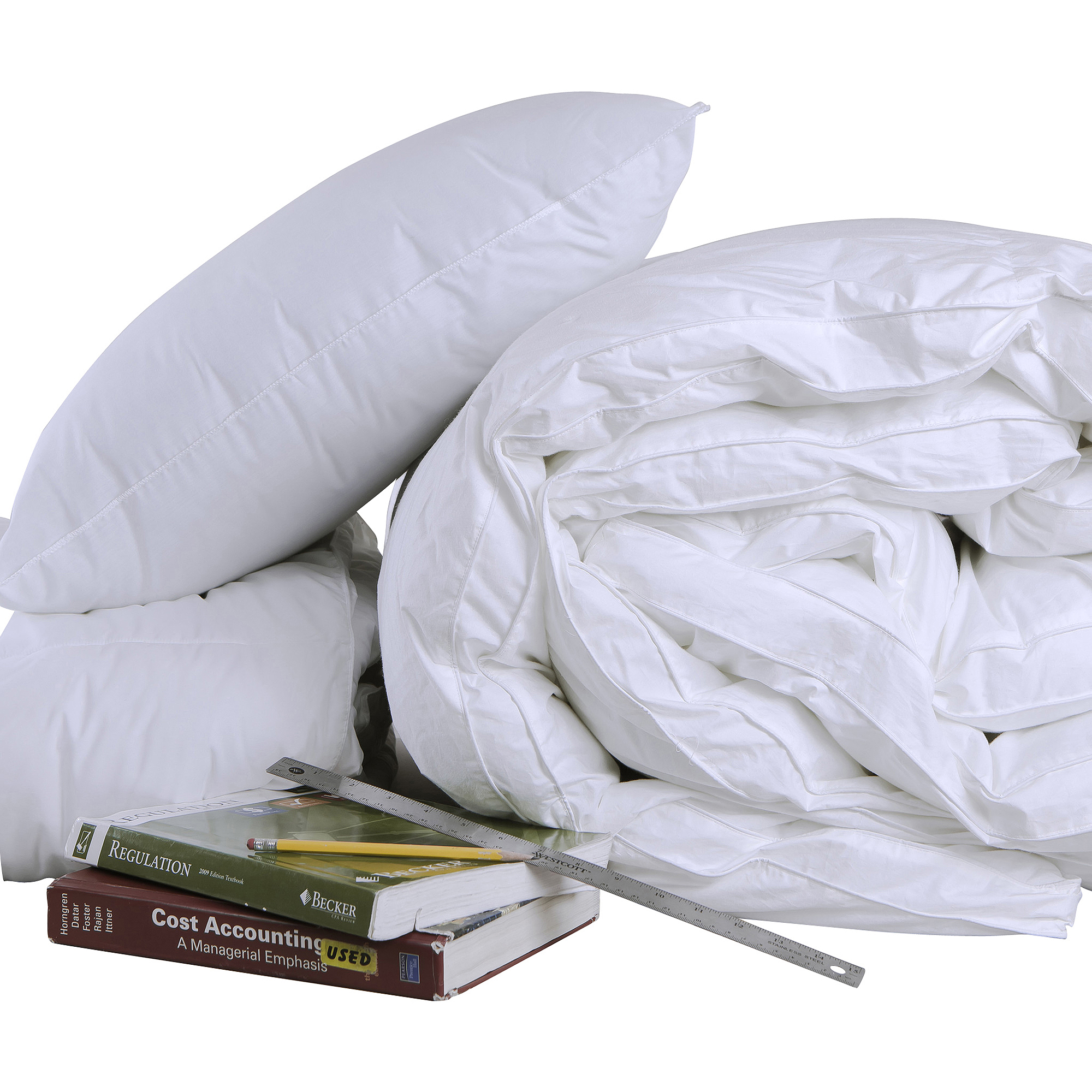 Cozy Classics Down Alternative Bedding Set Dorm Pack (Includes Comforter, Pillow, and Feather bed)