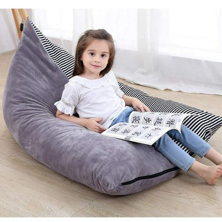 "Bean Bag Chair for Kids, LNKOO 50"" Premium Extra Large Stuffed Animal Storage Bean Bag, Playroom Toy Storage Bag/Organizer for Kids, Girls and Children"