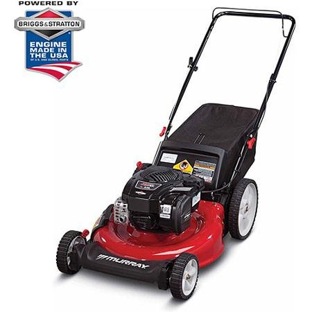 """Murray 21"""" Gas Push Lawn Mower with Side Discharge, Mulching, Rear Bag and Rear High Wheel by"""