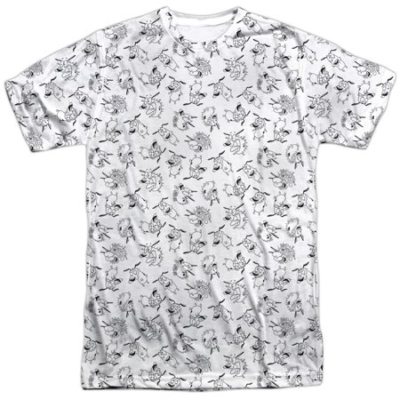 Courage The Cowardly Dog Scream Pattern (Front Back Print) Mens Shirt