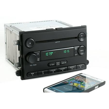 Ford 2007-2008 F-150 Pickup AM FM mp3 CD Radio w Bluetooth Music 7L3T-18C869-BK - Refurbished