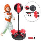 Walfront Kids Punching Bag, Inflatable Adjustable & Freestanding Speed Punching Bag with Boxing Gloves and Pump for Toddlers to 7 Years Kids, Adjustable Height 70cm-105cm (Boxing Speed Bag Clip)