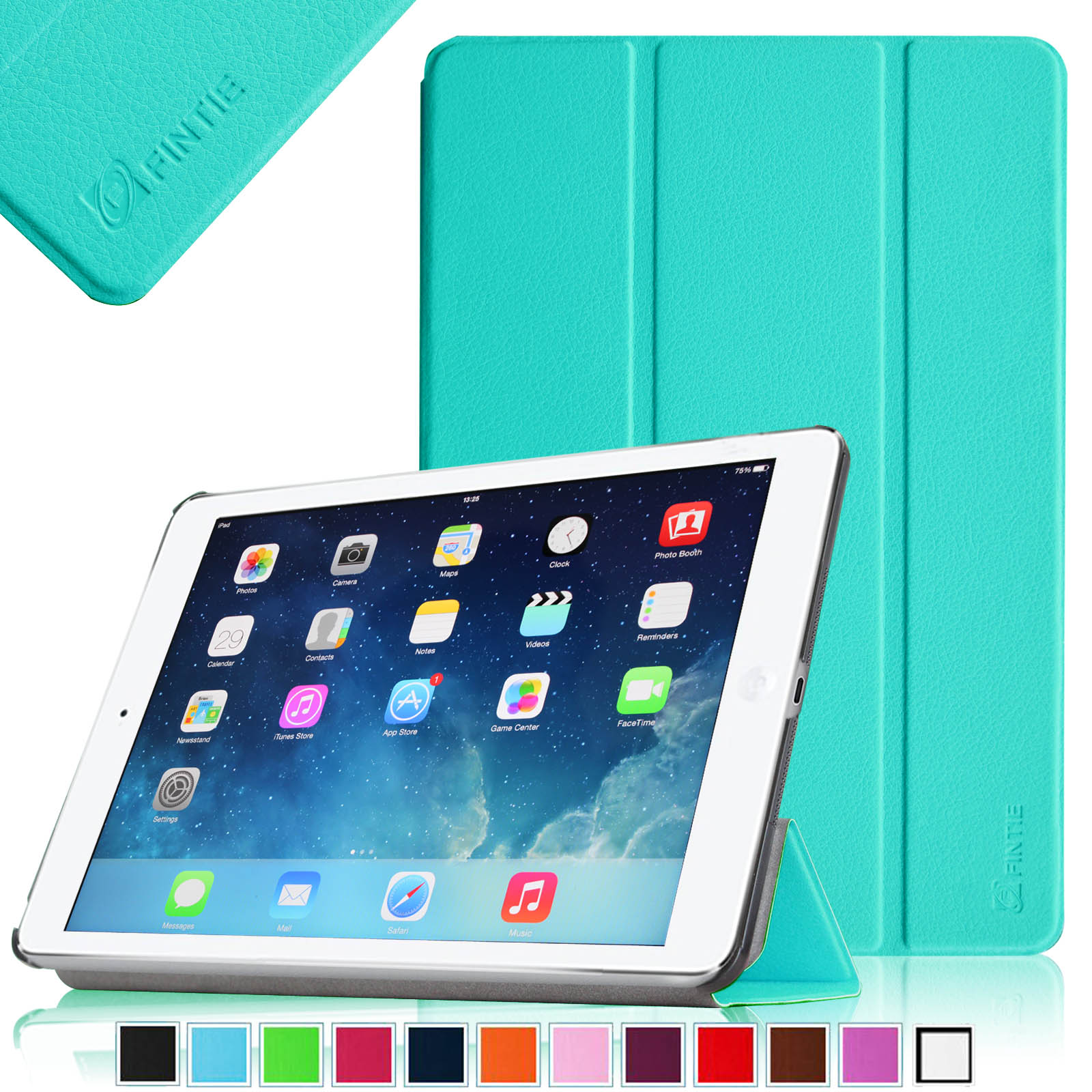 Fintie iPad Air SlimShell Case - Lightweight Stand Cover with Auto Wake / Sleep, Blue